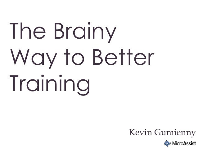 Kevin Gumienny The Brainy Way to Better Training