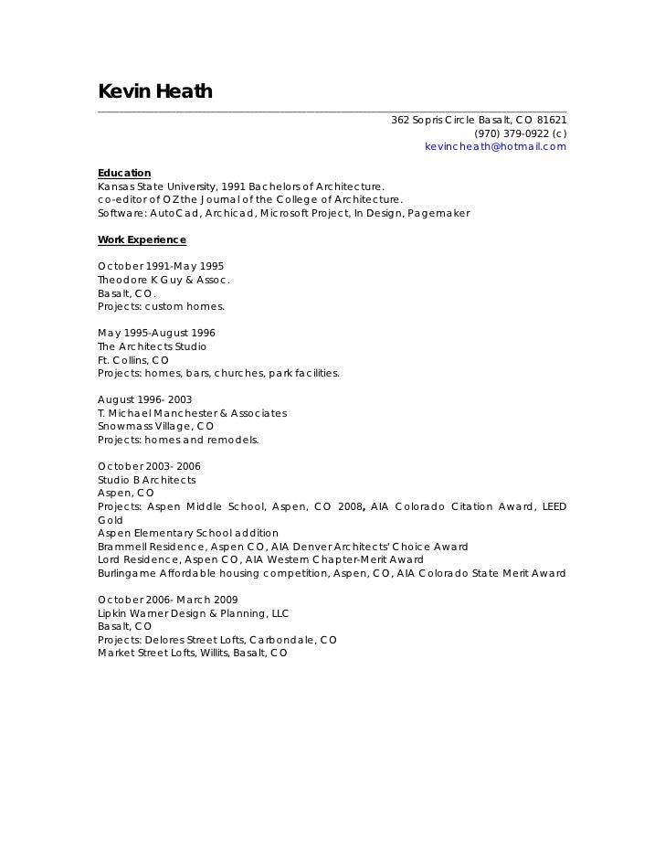 Kevin Heath Resume Portfolio