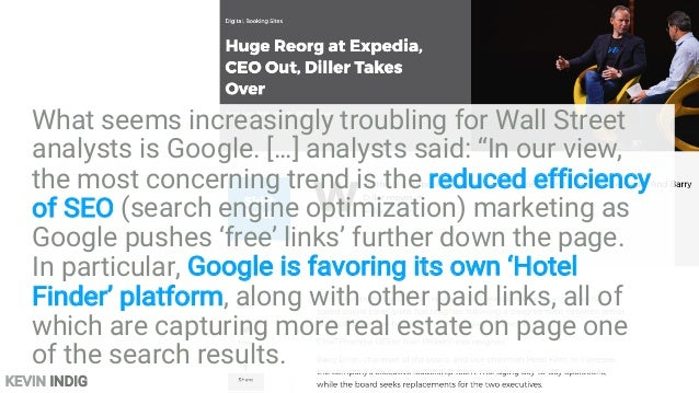 KEVIN INDIG […] TripAdvisor is facing aggressive competition from Google. CEO Steve Kaufer said the search giant's pushing...