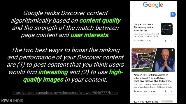 """KEVIN INDIG Conde Nast: Discover drives more traffic than Google Search """"Google Discover drove more traffic to Vogue's int..."""