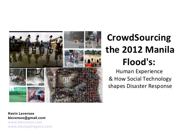 CrowdSourcing                         the 2012 Manila                             Floods:                            Human...