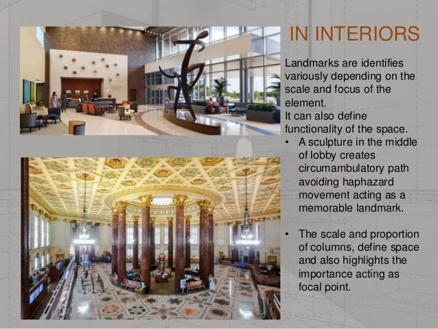 Define Elements Of Design : Urban elements in interior spaces