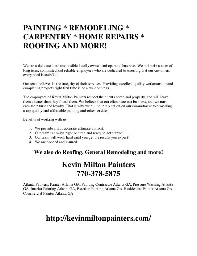 Painting Remodeling Carpentry Home Repairs Roofing And More We Are A
