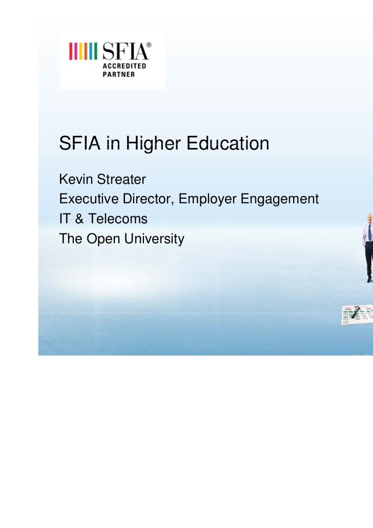 SFIA in Higher EducationKevin StreaterExecutive Director, Employer EngagementIT & TelecomsThe Open University