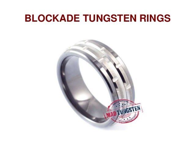 Kevlar Tungsten Blockade Rings