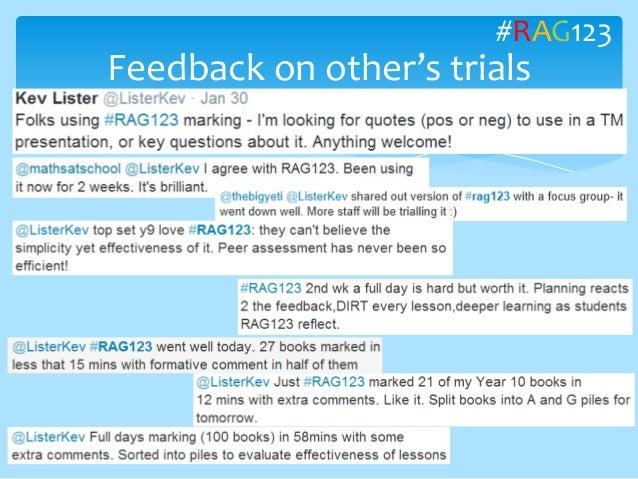 Feedback on other's trials #RAG123