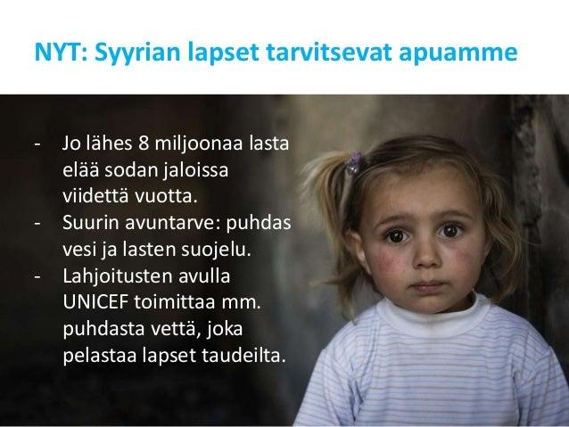 unicef syyrian lapset