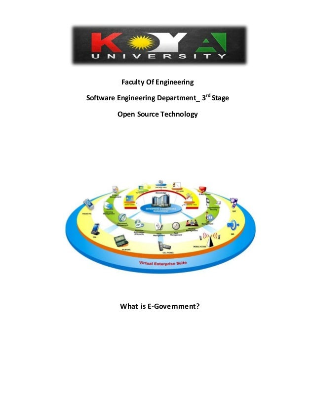 Faculty Of Engineering Software Engineering Department_ 3rd Stage Open Source Technology What is E-Government?