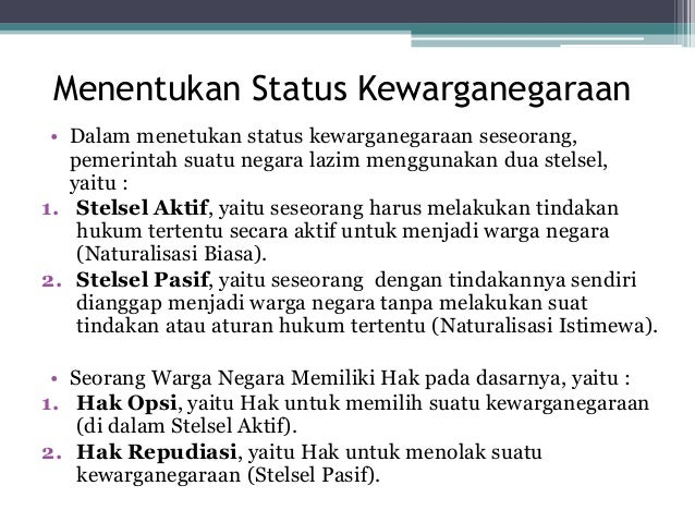 Kewarganegaraan negara indonesia