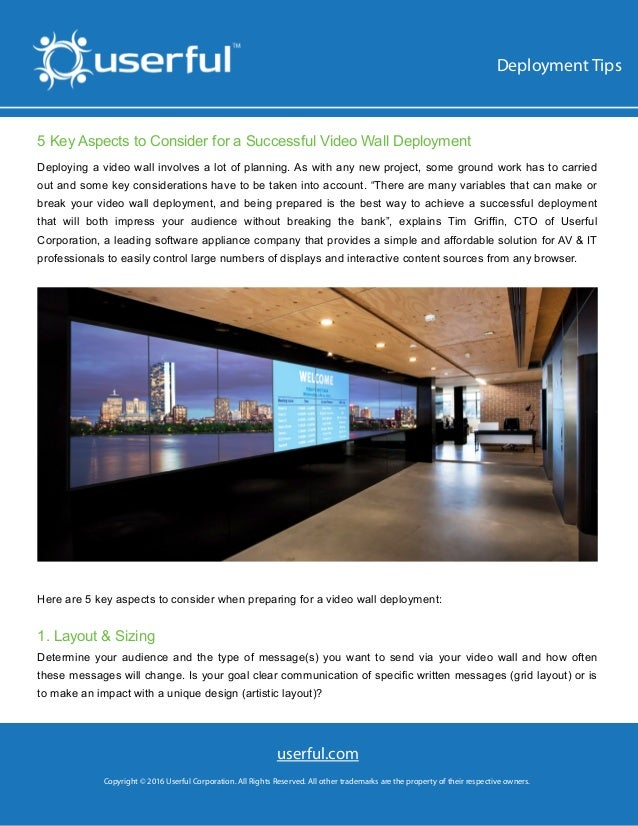 fdffffasd 5 Key Aspects to Consider for a Successful Video Wall Deployment Deploying a video wall involves a lot of planni...