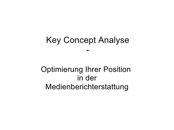 Key Concept Analyse - Optimierung Ihrer Position  in der Medienberichterstattung