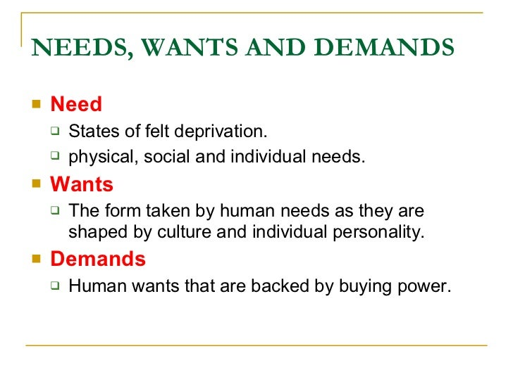 Individuals and groups obtain what they need and want through creating and exchanging products and v