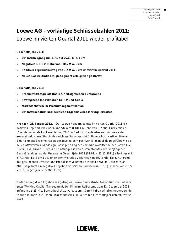 Key Figures 2011                                                                                           Presseinformati...