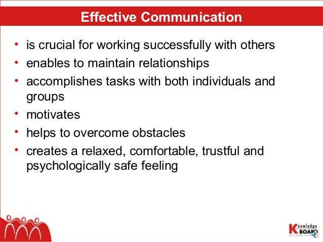 the key principles of communication in groups english language essay Communication is the process of passing information from one person to another the purpose of communication understands of information whatever one wants to say to someone should be clearly understood by him else the very purpose of the communication would be defeated.