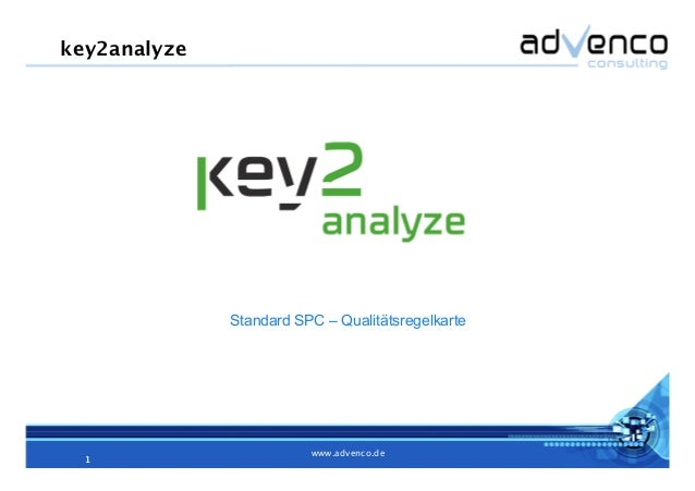 1! www.advenco.de! 1! Standard SPC – Qualitätsregelkarte key2analyze!
