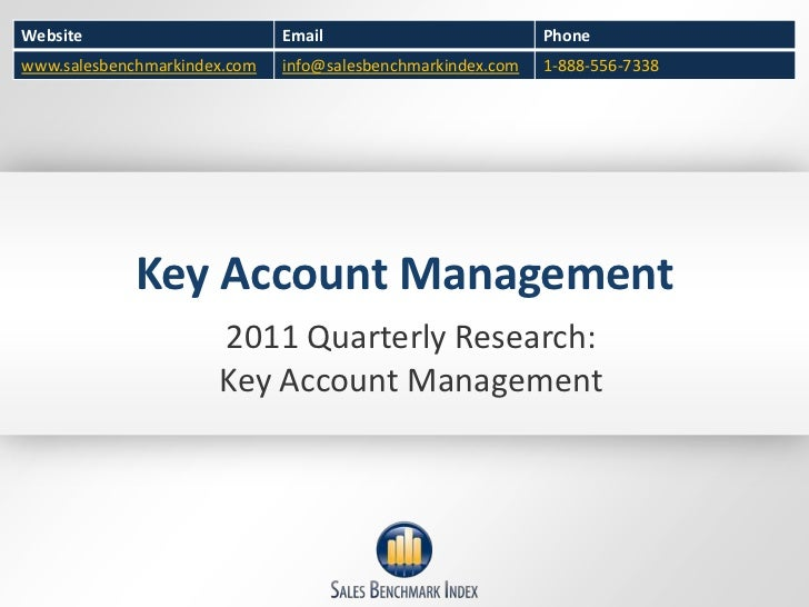 Key Account Management<br />2011 Quarterly Research:<br />Key Account Management<br />
