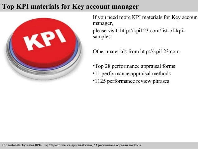 Key account manager kpi
