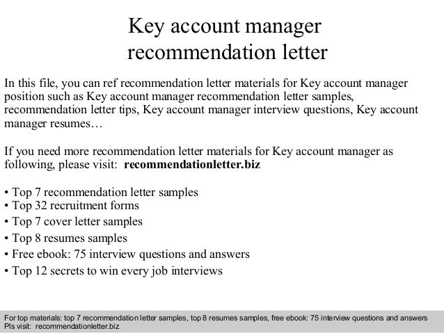 Interview Questions And Answers U2013 Free Download/ Pdf And Ppt File Key  Account Manager Recommendation ...