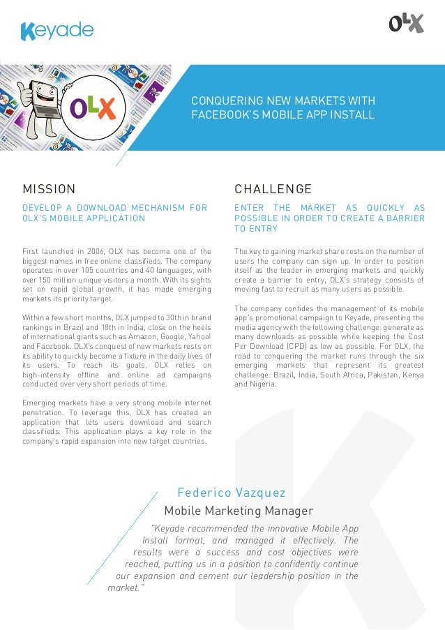 KEYADE CASE STUDY] OLX: conquering new markets with
