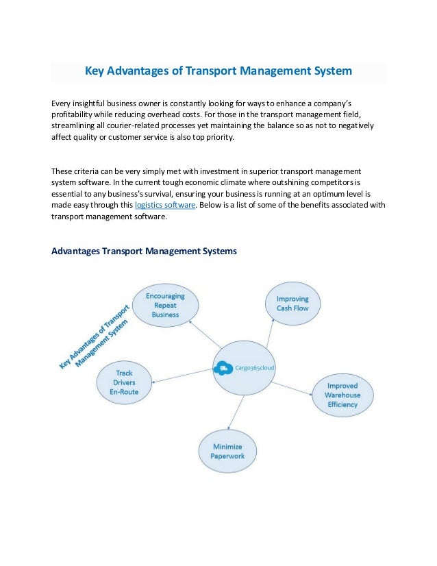 Key advantages of effective transport management systems