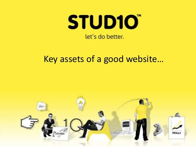 Key assets of a good website…