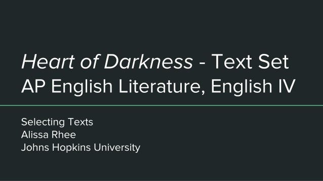 the imperialism of heart of darkness english literature essay Conrad's view's of imperialism as expressed in heart of darkness ap literature essay imperialism as expressed in heart imperialism in heart of darkness essay.