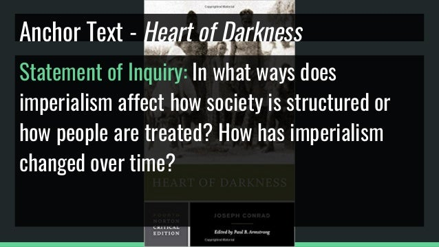 """heart of darkness ap english essay Ap english literature essay – heart of darkness / """"shooting an elephant"""" the basics in a 750-1000 word essay, clearly examine one of the following aspects of heart of darkness or """"shooting an elephant"""" you must adhere to the following guidelines in preparing your final draft for grading."""