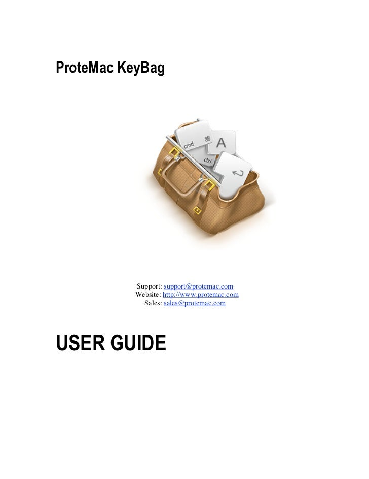 ProteMac KeyBag          Support: support@protemac.com          Website: http://www.protemac.com            Sales: sales@p...