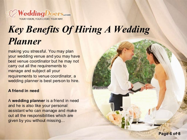 Key benefits of hiring a wedding planner