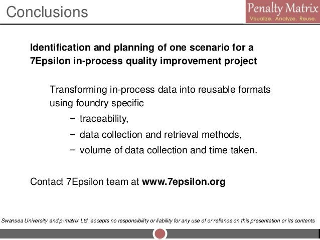 Identification and planning of one scenario for a 7Epsilon in-process quality improvement project Transforming in-process ...