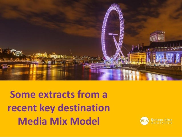 Some extracts from a recent key destination Media Mix Model
