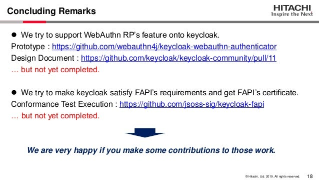 Implementing WebAuthn & FAPI supports on Keycloak