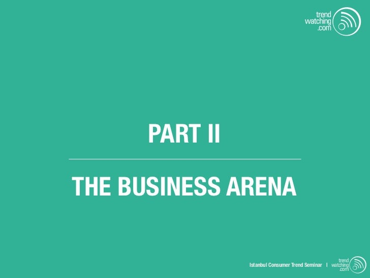 PART IITHE BUSINESS ARENA                                                     trend                Istanbul Consumer Trend...