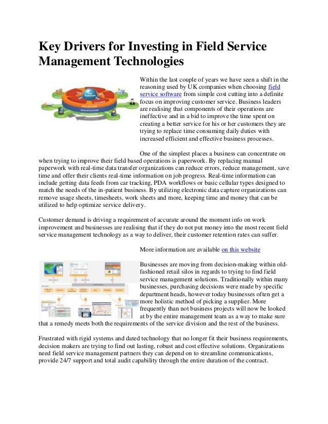 Key Drivers for Investing in Field Service Management Technologies Within the last couple of years we have seen a shift in...