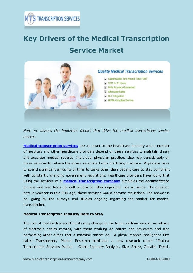 the future of medical transcription Learn more about medical transcriptionist and the importance of medical transcription training for future purposes.