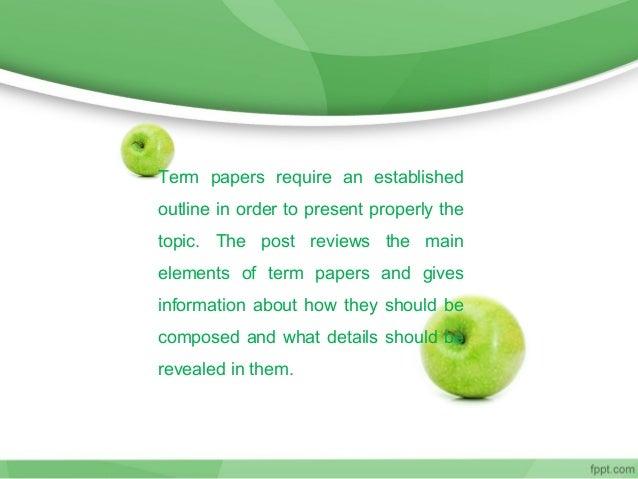 Term paper writer online