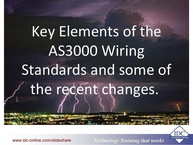key elements of australian wiring standards rh slideshare net australian electrical wiring regulations australian wiring standards colour