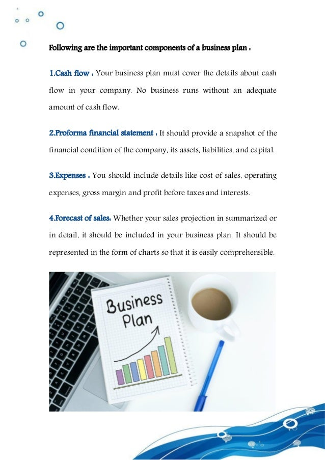 Key Elements Of Finances In A Business Plan