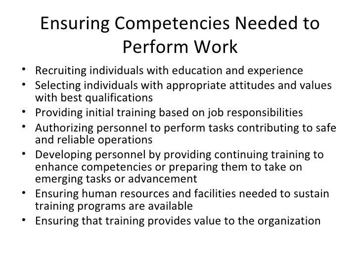 Key components of human resource development