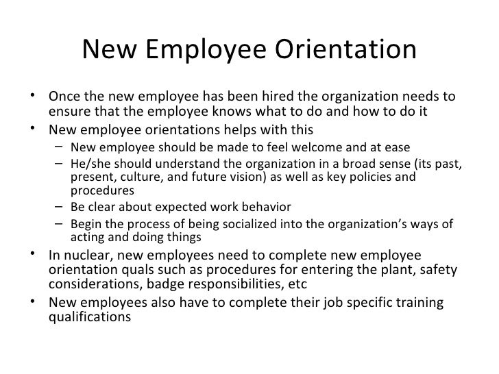 specifically what should the carters cover in their new employee orientation program and how should  The orientation program should be designed in a way that helps employees internalize the practices and procedures preferred by the carters keeping the same as their primary objective, following will have to be conveyed during the orientation program.
