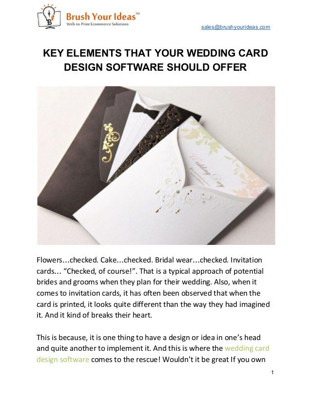 Key Elements That Your Wedding Card Design Software Should