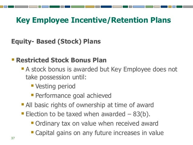 Restricted stock options deduction