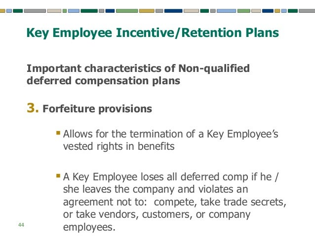 Key Employee Incentive And Retention Plans Creating A Motivated Man