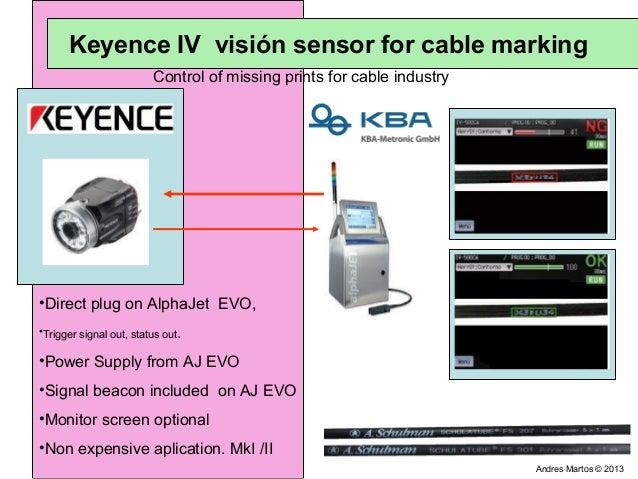 Keyence iv vision sensor on cable marking
