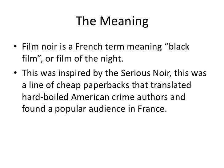 Key features of film noir Slide 2