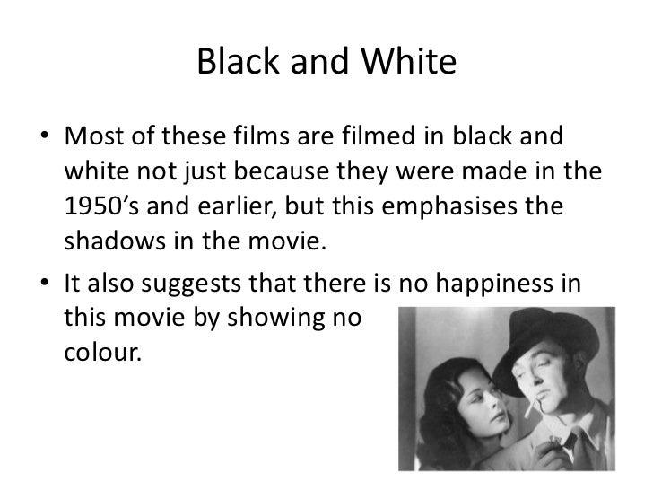 Key features of film noir Slide 3