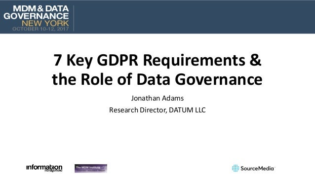 7 key gdpr requirements the role of data governance. Black Bedroom Furniture Sets. Home Design Ideas