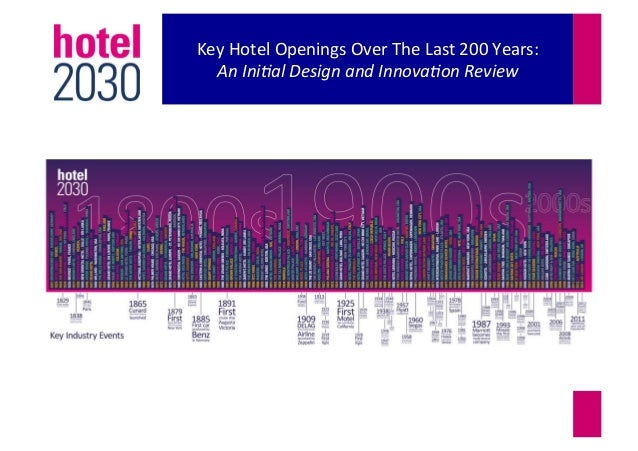 Key Hotel Openings Over The Last 200 Years: An Ini&al Design and Innova&on Review