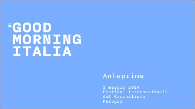 3 maggio 2014 Festival Internazionale del Giornalismo Perugia Anteprima