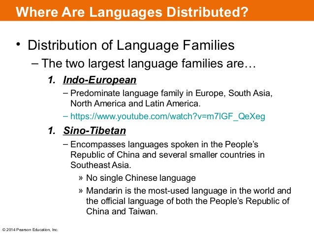 Chapter Key Issue - No 1 language in world